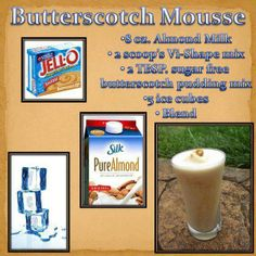 Treat yourself to this yummy butterscotch mousse shake. It will taste like dessert, not like a weight loss shake! #proteinshake #butterscotch #weightloss http://www.my-body-by-vi.com/ultimate-shake-recipes
