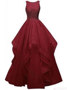 Gorgeous Layered Long Prom Dress #promdresses #SIMIBridal
