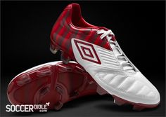 Umbro Geometra Pro St George's Collection - White/Vermillion/Claret http://www.soccerbible.com/news/football-boots/archive/2012/04/23/umbro-goemetra-pro-st-george-s-collection-white-vermillion-claret.aspx