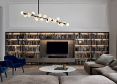 Are you looking for Wall Systems: Arrangement Wall System [A] by Poliform? Check out the product sheet, prices and where you can buy it on Designbest. Living Room Designs, Living Spaces, Living Area, Bookcase Wall, Bookshelves Tv, Wooden Bookcase, Bookshelf Ideas, Book Shelves, Muebles Living