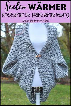 Easy Crochet Shrug, Crochet Shrug Pattern Free, Cardigan Au Crochet, Pull Crochet, Gilet Crochet, Crochet Jacket, Crochet Shawl, Double Crochet, Crochet Hooks