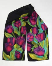 Hand Painted Silk Scarves, Greeting Cards, Jewelry