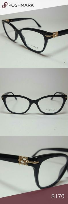 Versace Eyeglasses New and authentic  Versace Eyeglasses  Black frame  Size 52-16-140 Original case included Versace  Accessories Glasses