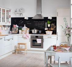 Küchenrückwand mit Tafelfarbe