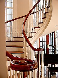 Custom Built Curved Staircases, Spiral, Straight Wooden Stairs-Glass Balusters, Newels, Posts, Metal Handrails | Northern Staircase Co.