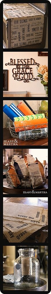 Also, Mary  Martha coffee supports a missionary family and all sales support Compassion International.  NEW SPRING 2014 ITEMS include: R...