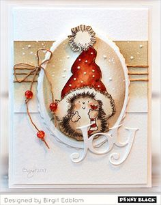Merry Christmas From the Penny Black family to you and yours, may the joy of Christmas fill your hearts and homes on this very special day. Card design by Birgit Edblom featuring Santa's Hat and Winter Cheer Christmas Cards 2017, Christmas Card Crafts, Xmas Cards, Christmas Art, Handmade Christmas, Holiday Cards, Black Christmas, Christmas Ideas, Greeting Cards