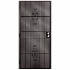 Unique Home Designs 36 In. X 80 In. Cottage Rose Black Surface Mount  Outswing Steel Security Door With Expanded Metal Screen | Pinterest |  Security Door, ...