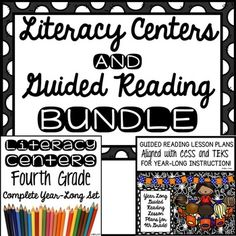 Due to many requests, I have bundled two of my best selling and largest items! In this bundle you have an entire year of Guided Reading Lesson Plans and Literacy Centers for 4th Grade: Here is the link to this product: 4th Grade Year Long Guided Reading Lesson PlansHere is the description:A YEAR OF GUIDED READING LESSON PLANS for 4TH GRADE!Over 300 Pages of Lesson Plans, Anecdotal Records Sheets, Vocabulary Pages and Graphic Organizers!This product includes 34 weeks of Guided Reading Lesson…