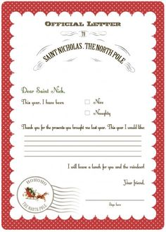 Letters to Santa - LOTS and LOTS of free Christmas printables here!