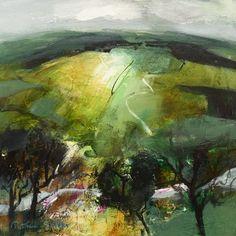 Sunlight on Border Hillside by Patricia Sadler