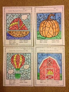 Color By Coins - fun worksheets to practice pennies, nickels, dimes and quarters! $