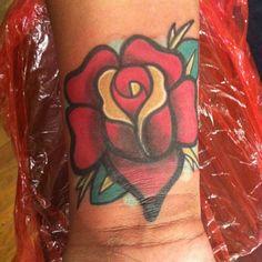rose coverup on wrist