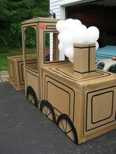 15 Ideas of Cardboard Trains That Your Kids Will Love                                                                                                                                                                                 More