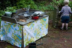 mud kitchen fun by sew liberated, via Flickr