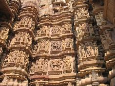 Khajuraho, India - Erotic Temple The Khajuraho Group of Monuments in Khajuraho, located in Chhatarpur District, southeast of New Delhi, is one of the most popular tourist destinations in India. Khajuraho has the largest group of medieval Hindu and Jain temples, famous for their erotic sculptures.