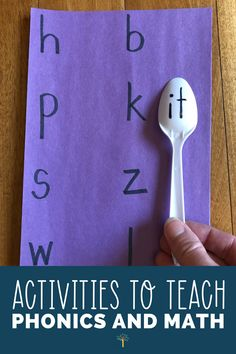 Activities to Teach Phonics and Math