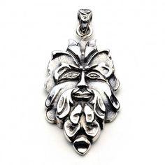 Green Man Pendant (Sterling Silver)