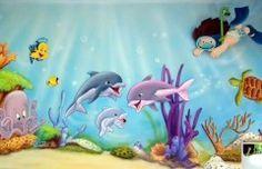 mar 39 Mural infantil del fondo del mar