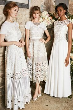 BRIDES & BRIDESMAIDS: Keep things simple with gorgeous gowns for brides and bridesmaids alike. #WedWithTed