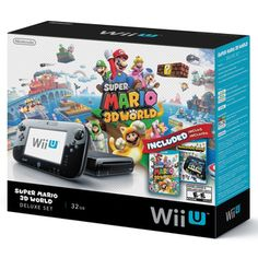 ♥♥♥Wii U bundle with Mario game: for CJ and I.