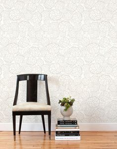 Removable wallpaper! Petal Pusher (Taupe) Tile from Hygge & West #hyggeandwestpintowin