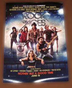 ROCK OF AGES OFFICIAL 12x18 MINI MOVIE POSTER....... BRAND NEW - MINT CONDITION 12 x 18 AUTHENTIC & ORIGINAL WARNER BROS. MINI MOVIE POSTER STARRING TOM CRUISE. Posters are 100% authentic and are not reproductions, copies or reprints. These are the original promotional posters used by Warner Bros. Studios. Posters are brand new and have never been hung or displayed. www.theonestopfunshop.com
