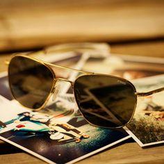 2016e75c7d13 Gold Frame Aviator Sunglasses by Randolph Engineering