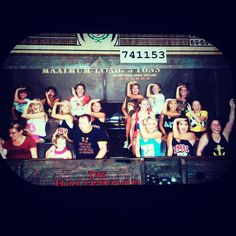 """Epsilon Zeta Delta Gammas from Loyola Marymount took over Disneyland one evening and didn't forget to throw a """"sailor salute"""" just before things got serious on the Tower of Terror."""