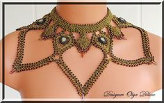 beaded neckpiece, Olga Dillow