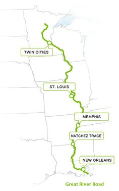 Map of the Southern Pacific Road Trip