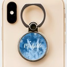 Shop Stars pattern Classic blue Monogram personalized Phone Ring Stand created by Personalize it with photos & text or purchase as is! Ring Stand, Star Patterns, Ring Holders, Monogram, Personalized Items, Stars, Phone, Classic, Rings