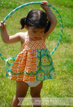 Toddler halter top/dress and matching ruffle bottom