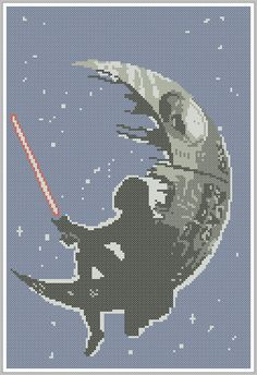 BOGO FREE Cross stitch STAR Wars Darth Vader Death Star