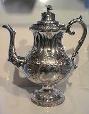 antique teapots   antiques vintage price guide Antique American coin silver teapot By J ...