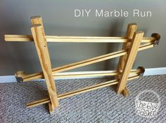 A marble run is one of those classic toys that every little boy has to have, don't you think? I first saw a homemade marble run similar to ...