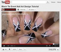 black and white nail art design ideas - Google Search