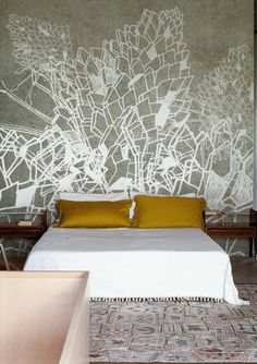 Contemporary wallpaper / nature pattern - DECAMERON by Talva Design - Wall&Deco Deco Design, Wall Design, House Design, Design Hotel, Design Design, Design Ideas, Sweet Home, Home Bedroom, Bedroom Decor