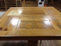 Beautifully Finished Wine Crate Panel Tabletop