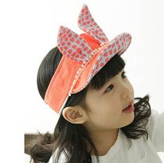 Lovely rabbit ear visors for kids polka dot sun hat summer wear Visor Hats, Rabbit Ears, Visors, Kids Hats, Summer Wear, Sun Hats, Polka Dots, Womens Fashion, How To Wear