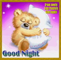 Make sure your special one sleeps peacefully tonight. Send them this cute #teddybear #goodnight #ecard. www.123greetings.com
