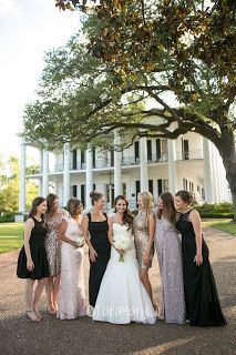 I love all the different dresses. Dunleith Plantation Wedding, Natchez, MS