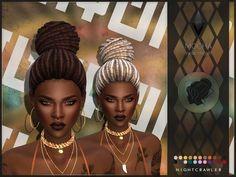 sims 4 cc // custom content dreadlocks hairstyle // the sims resource // Nightcr. - sims 4 cc // custom content dreadlocks hairstyle // the sims resource // Nightcrawler Sims' Nightc - Hair The Sims 4, Sims 4 Black Hair, Sims Hair, Side Braid Hairstyles, Ethnic Hairstyles, Female Hairstyles, Sims Cc, Mocha Hair, Cornrows