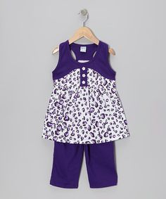 Take a look at this Purple Racerback Tunic & Capri Pants - Toddler & Girls by G Relations on #zulily today! http://www.zulily.com/invite/Zulily20Store