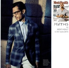 "‪#‎Press‬ // this month in the editorial ""Eleganza di coppia"" on Men's Health magazine! ‪#‎Myths‬ ‪#‎Trousers‬"