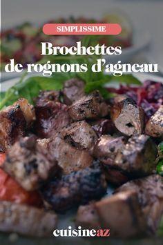Ces brochettes de rognons d'agneau sont à cuire au barbecue l'été. #recette#cuisine#brochette#rognon #agneau #barbecue #bbq Barbecue, C'est Bon, Beef, Food, Special Recipes, Lamb, Skewers, Meat, Barrel Smoker