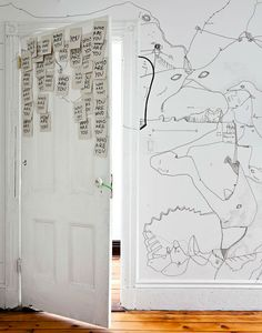 Shantell Martin's Illustrated Apartment in Brooklyn.  We love drawing on walls... you should give it a try too! :) x