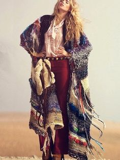 Free People Tangier Maxi Poncho at Free People Clothing Boutique Boho Gypsy, Bohemian Mode, Bohemian Style, Hippie Style, Gypsy Style, Hippie Chic, Looks Style, Looks Cool, My Style
