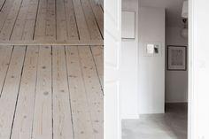 Swedish Design, Scandinavian Design, Wooden Flooring, Hardwood Floors, Inside A House, Pine Floors, Interior Decorating, Interior Design, Living Room Interior