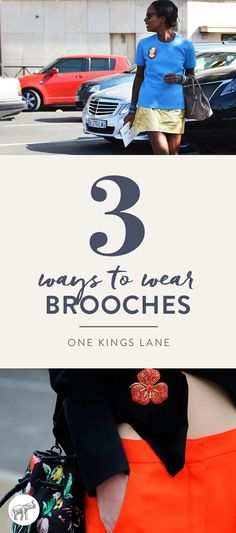 Summer's hottest trend: brooches!